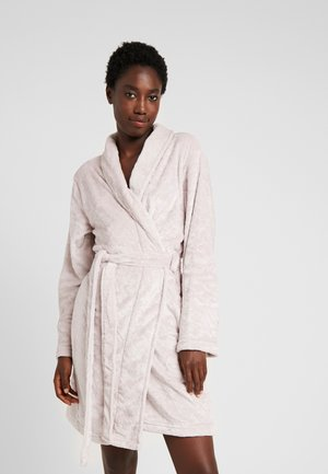 HEART CLIPPED ROBE - Dressing gown - mink