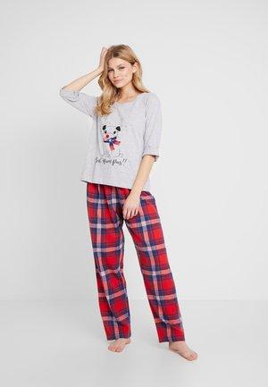 BAH HUM CHECK SET - Pyjama - light grey