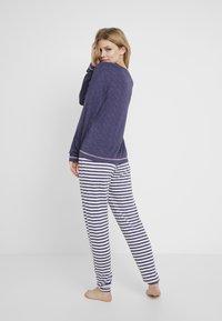 Dorothy Perkins - STRIPE OWL SET - Pyžamová sada - navy - 2