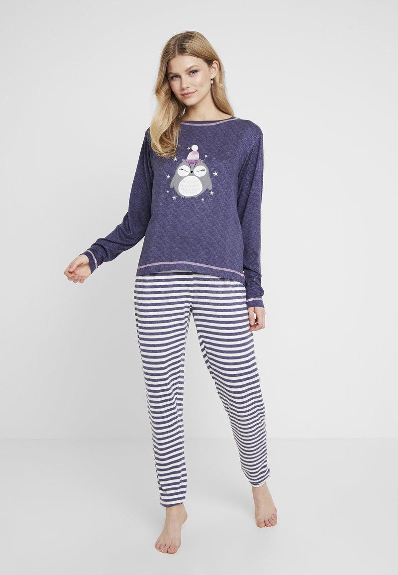 Dorothy Perkins - STRIPE OWL SET - Pyžamová sada - navy