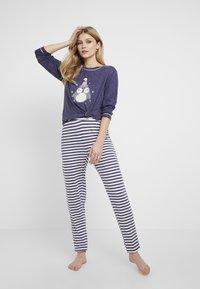 Dorothy Perkins - STRIPE OWL SET - Pyžamová sada - navy - 1