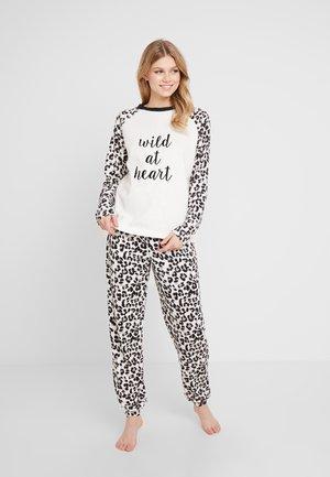 LEOPARD WILD AT HEART SET - Pyžamová sada - white
