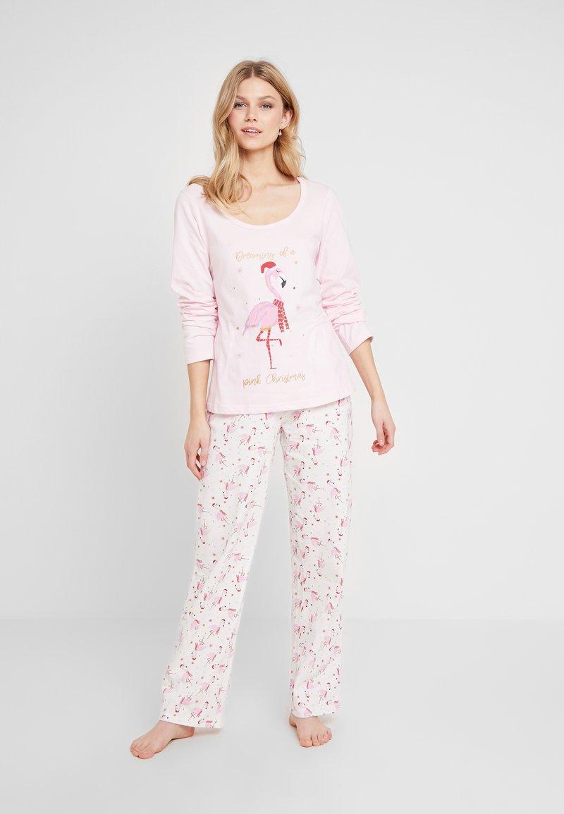 Dorothy Perkins - CHRISTMAS FLAMINGO SET - Pyžamová sada - pink