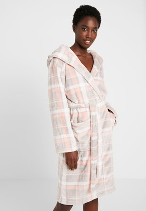 SEALSKIN PRINT CHECK ROBE - Dressing gown - pink