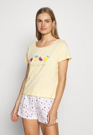 HELLO SUMMER SHORT SET - Pyjamas - lemon