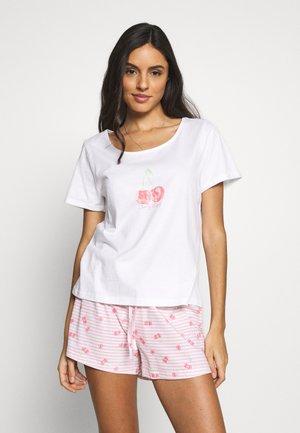 CHERRY SLEEPY SHORT SET - Pyžamo - white