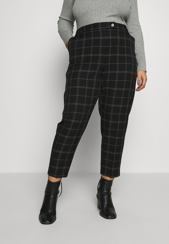 ANKLE GRAZER - Trousers - black/port