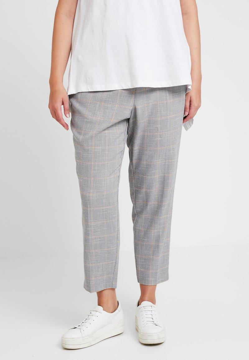 Dorothy Perkins Curve - ELASTIC BACK ANKLE GRAZER - Pantalon classique - grey