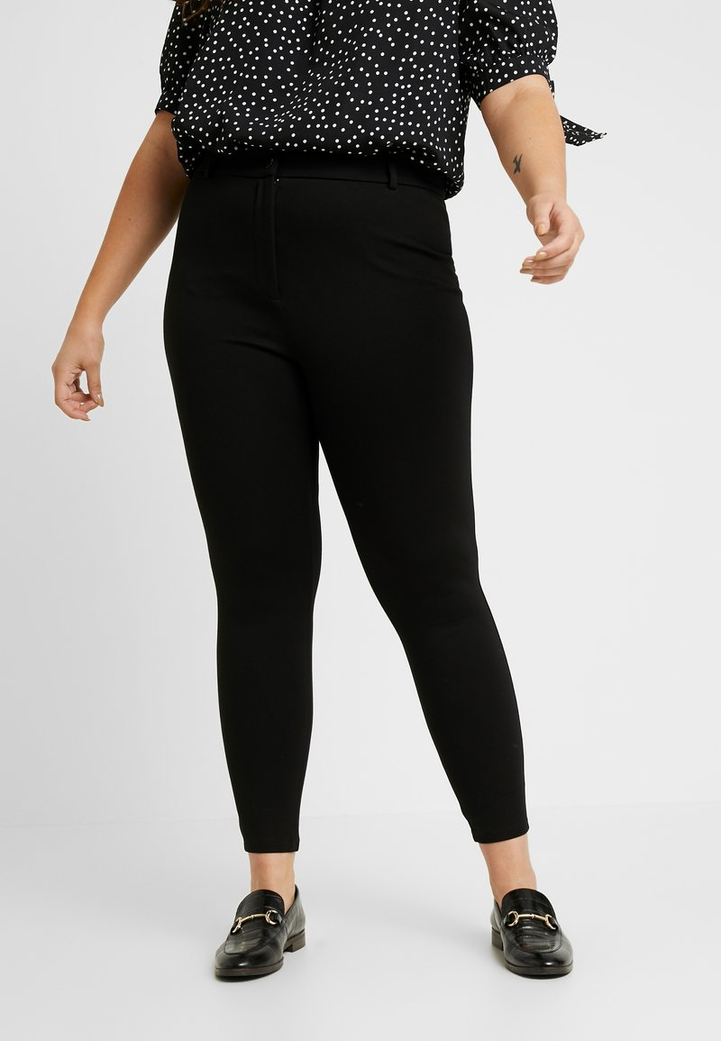 Dorothy Perkins Curve - ONE BUTTON TREGGING - Leggings - black