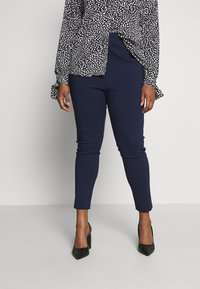 Dorothy Perkins Curve - BENGALINE PULL ON TROUSER - Pantalon classique - navy - 0