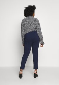 Dorothy Perkins Curve - BENGALINE PULL ON TROUSER - Pantalon classique - navy