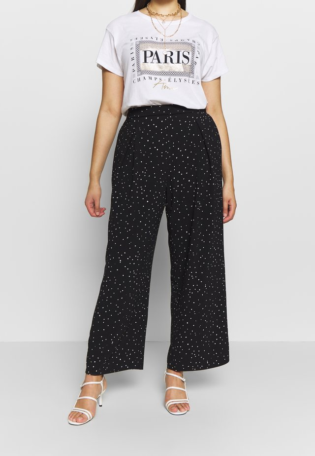 PALAZZO - Trousers - black
