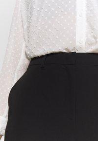 Dorothy Perkins Curve - ELASTIC BACK ANKLE GRAZER - Pantaloni - black - 4