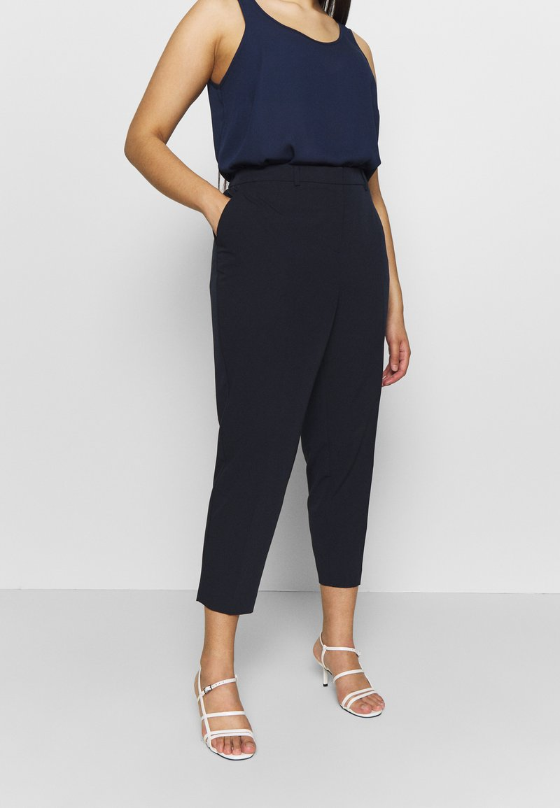 Dorothy Perkins Curve - ELASTIC BACK ANKLE GRAZER - Trousers - navy
