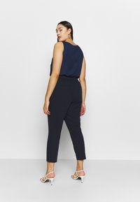 Dorothy Perkins Curve - ELASTIC BACK ANKLE GRAZER - Trousers - navy - 2