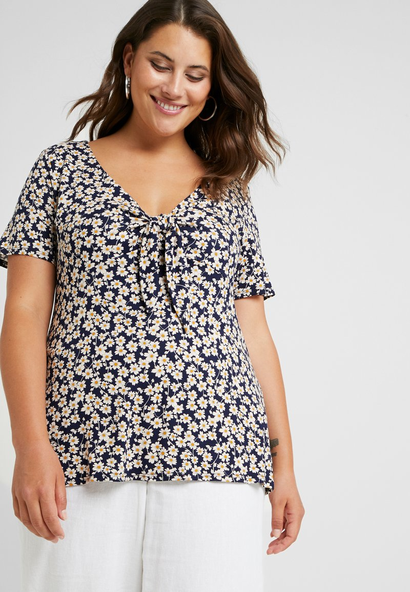 Dorothy Perkins Curve - TIE FRONT - T-shirts print - multi