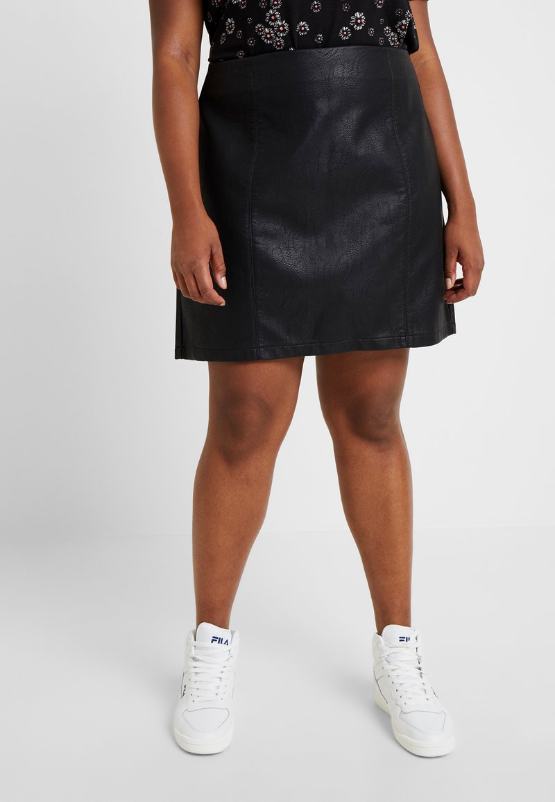 Dorothy Perkins Curve - SEAM DETAIL MINI SKIRT - Gonna a campana - black