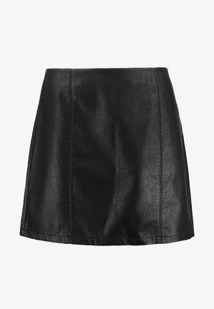 SEAM DETAIL MINI SKIRT - Jupe trapèze - black