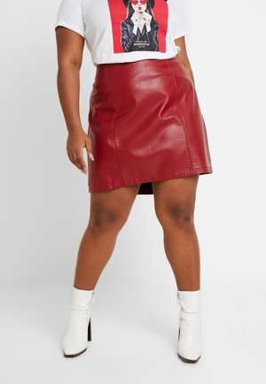SEAM DETAIL MINI SKIRT - Minikjol - oxblood