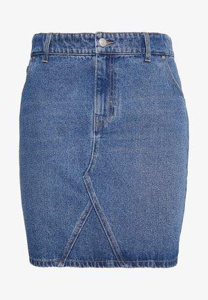 MINI SKIRT - Denim skirt - indigo