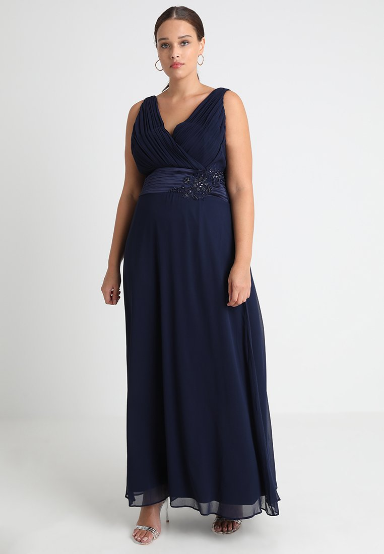 Dorothy Perkins Curve - ARIA SIDE MAXI - Occasion wear - navy