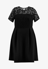 Dorothy Perkins Curve - SHORT FIT AND FLARE DRESS - Cocktail dress / Party dress - black - 3