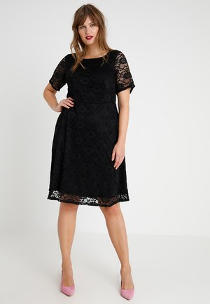 ALL OVER FIT AND FLARE DRESS - Juhlamekko - black