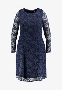 Dorothy Perkins Curve - LONG SLEEVE FIT AND FLARE DRESS - Cocktail dress / Party dress - navy - 5