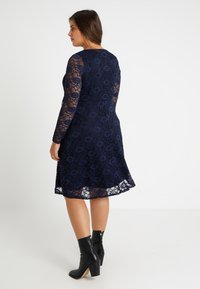 Dorothy Perkins Curve - LONG SLEEVE FIT AND FLARE DRESS - Cocktail dress / Party dress - navy - 3
