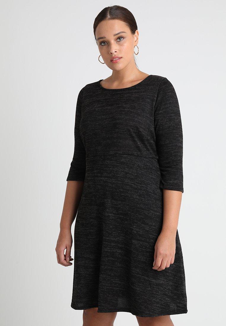 Dorothy Perkins Curve - SWING BRUSHED DRESS - Stickad klänning - charcoal