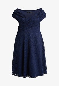 Dorothy Perkins Curve - FIT AND FLARE DRESS - Cocktail dress / Party dress - navy - 5