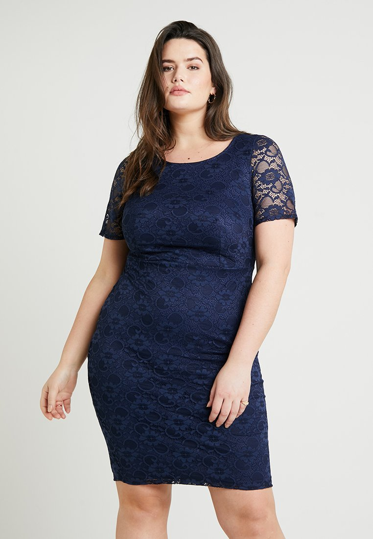 Dorothy Perkins Curve - PENCIL DRESS - Vestito elegante - navy