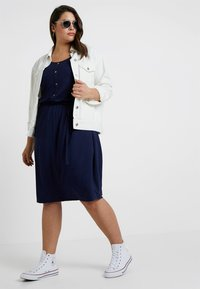 Dorothy Perkins Curve - BUTTON DOWN MIDI DRESS - Jersey dress - navy blue - 1