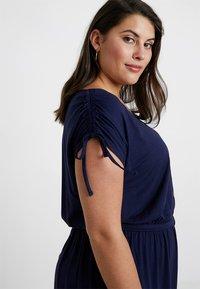 Dorothy Perkins Curve - BUTTON DOWN MIDI DRESS - Jersey dress - navy blue - 6