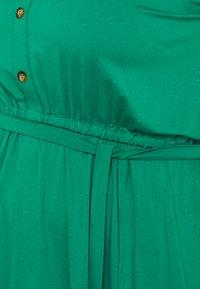Dorothy Perkins Curve - BUTTON DOWN MIDI DRESS - Jersey dress - green - 5