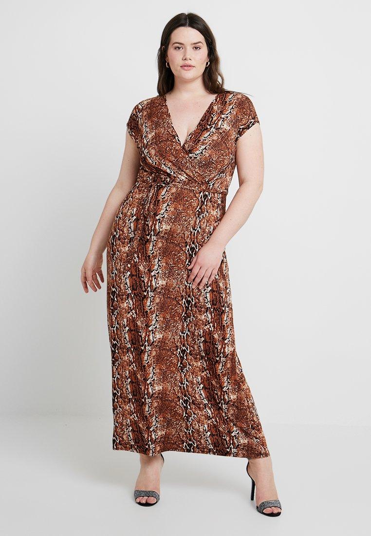 Dorothy Perkins Curve - ANIMAL PRINT WRAP DRESS - Vestito lungo - multicolor