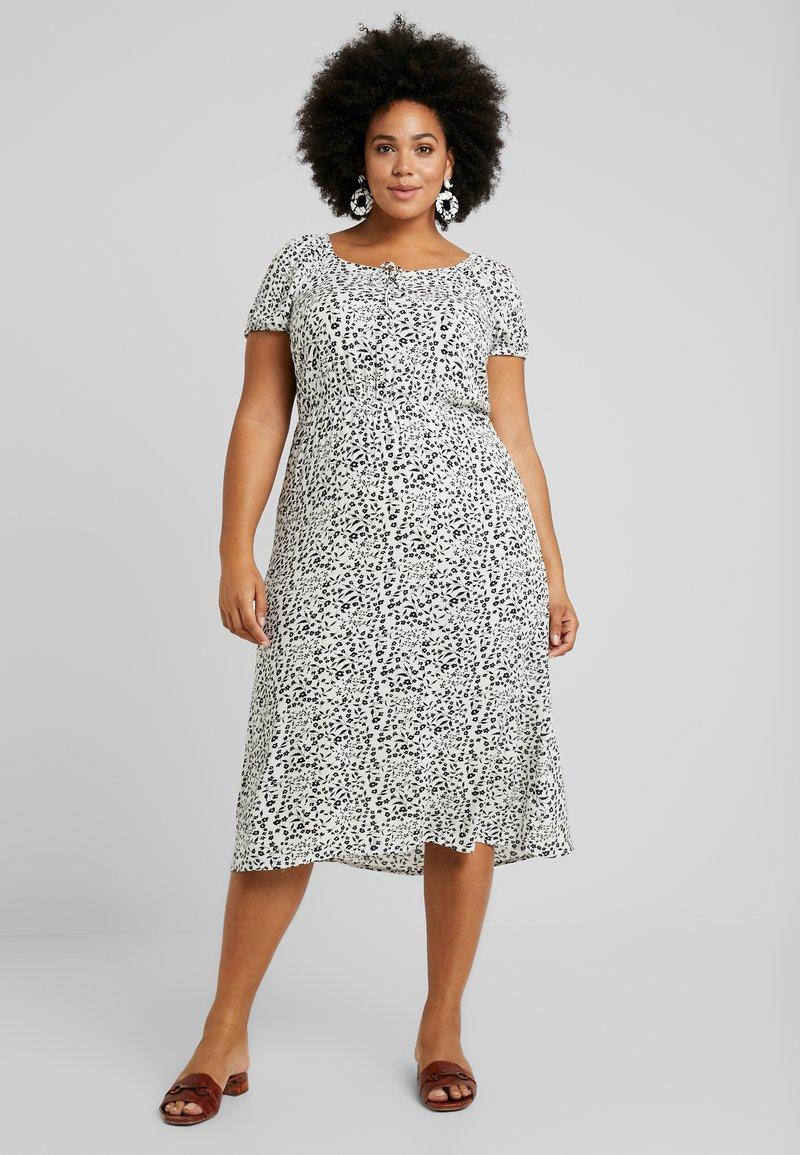 Dorothy Perkins Curve - GYPSY MIDI DRESS DITSY - Day dress - ivory
