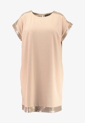 SEQUIN SHIFT DRESS - Jerseykleid - nude