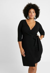 Dorothy Perkins Curve - LIVERPOOL DRESS - Žerzejové šaty - black - 0