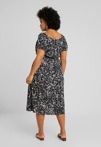 Dorothy Perkins Curve - SHORT SLEEVE GYPSY MIDI DRESS ABSTRACT PRINT - Vestito estivo - black - 3