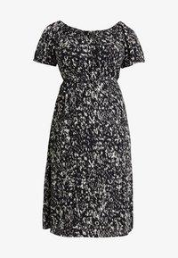 Dorothy Perkins Curve - SHORT SLEEVE GYPSY MIDI DRESS ABSTRACT PRINT - Vestito estivo - black - 5