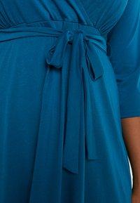 Dorothy Perkins Curve - WRAP DRESS SLEEVE - Vestido ligero - teal - 5