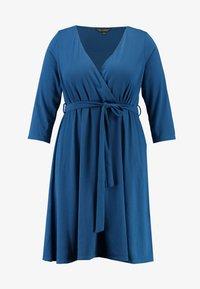 Dorothy Perkins Curve - WRAP DRESS SLEEVE - Vestido ligero - teal - 4