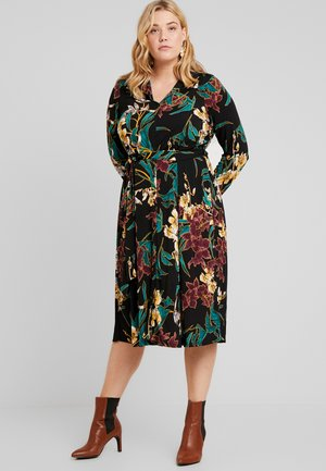 FORMAL DRESS FLORAL - Sukienka z dżerseju - black