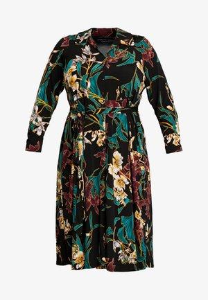 FORMAL DRESS FLORAL - Jerseyklänning - black
