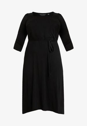3/4 SLEEVE MIDI - Žerzejové šaty - black
