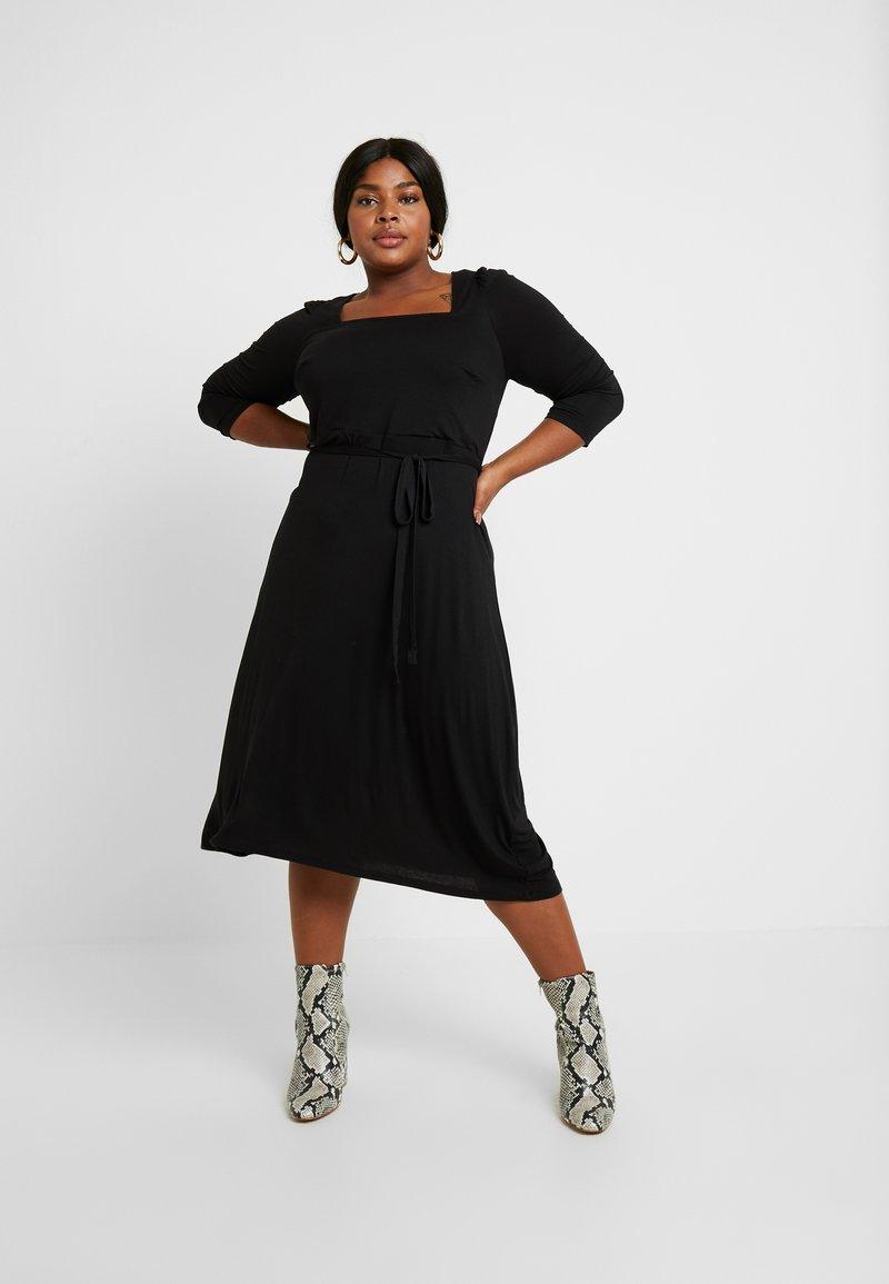 Dorothy Perkins Curve - 3/4 SLEEVE MIDI - Jersey dress - black