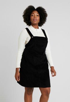 SQUARE NECK PINNY DRESS - Freizeitkleid - black