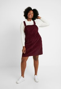 Dorothy Perkins Curve - SQUARE NECK PINNY DRESS - Day dress - purple - 2
