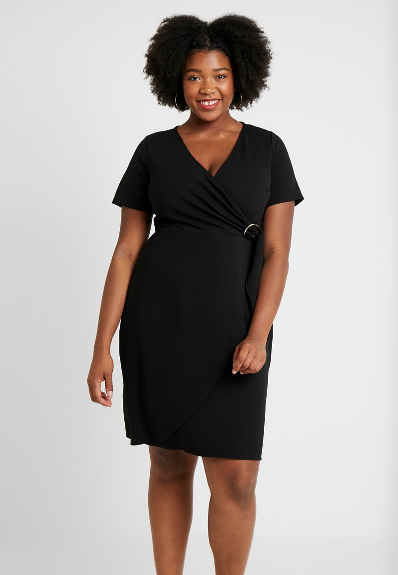 Dorothy Perkins Curve - WRAP DRESS - Kjole - black